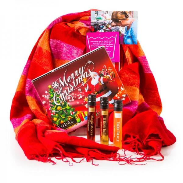 Sjaal met Verhaal & kerst likeur proeverij