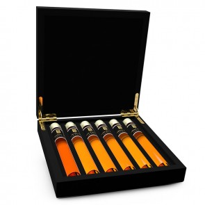 Cognac - 6 tubes houten kistje